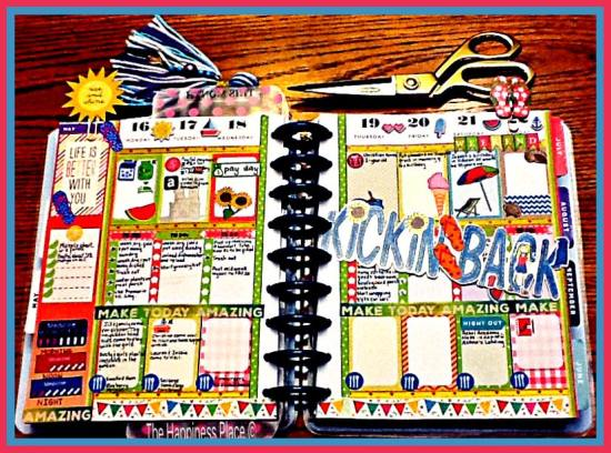 Summer Stickers used in Planner