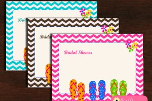 Funky Beach Bridal Shower Party Invitation