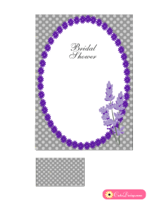 Free Printable Lavender and Grey Bridal Shower Invitation