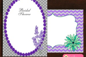 Free Printable Lavender Bridal Shower Invitations