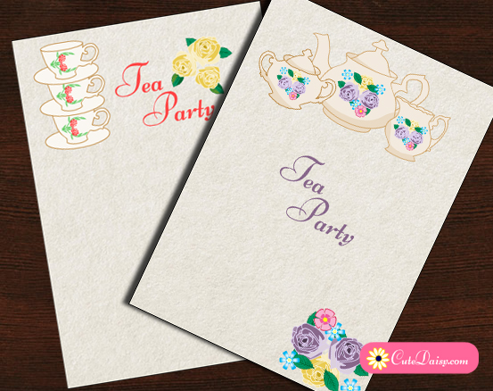 It's just an image of Free Printable Tea Party Invitations for pdf editable