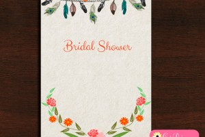 Free Printable Tribal Bridal Shower Invitation
