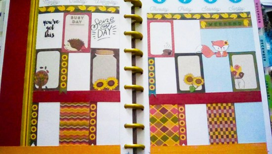 Free printable fall stickers used in Planner
