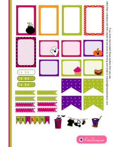 Free Printable Halloween Stickers for Happy Planner 1