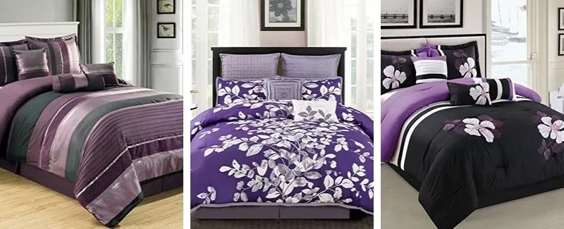 purple and black bedding sets for all