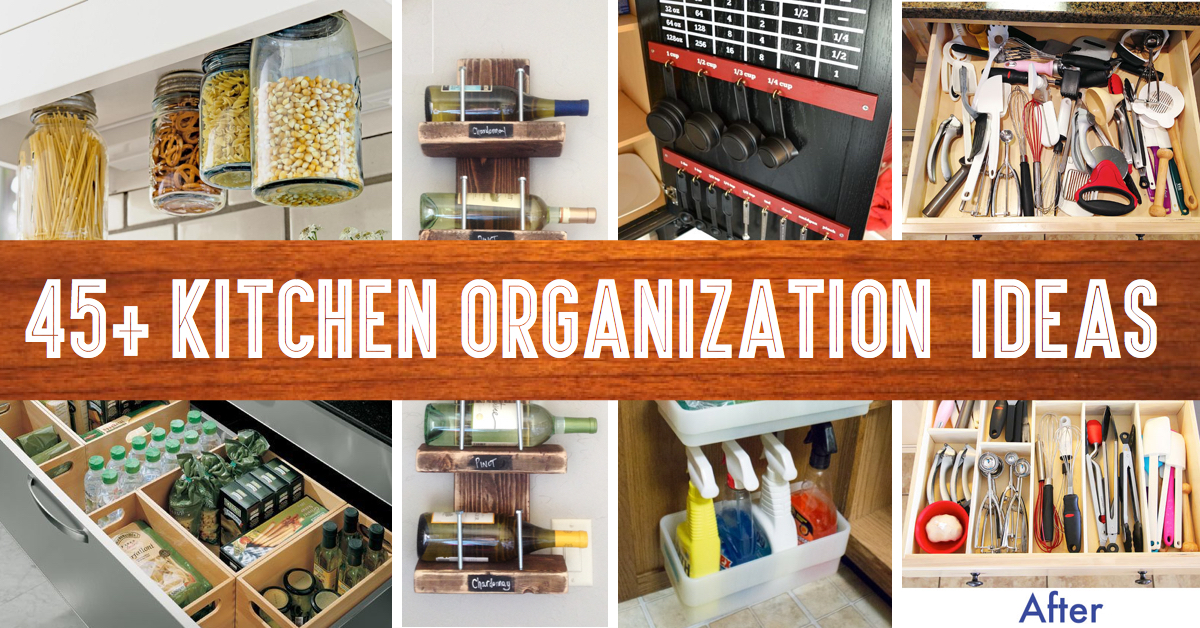 45 Small Kitchen Organization And Diy Storage Ideas Cute