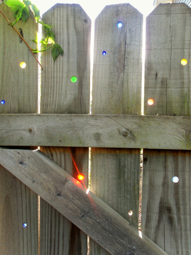DIY Glass Marbles For Your Fence