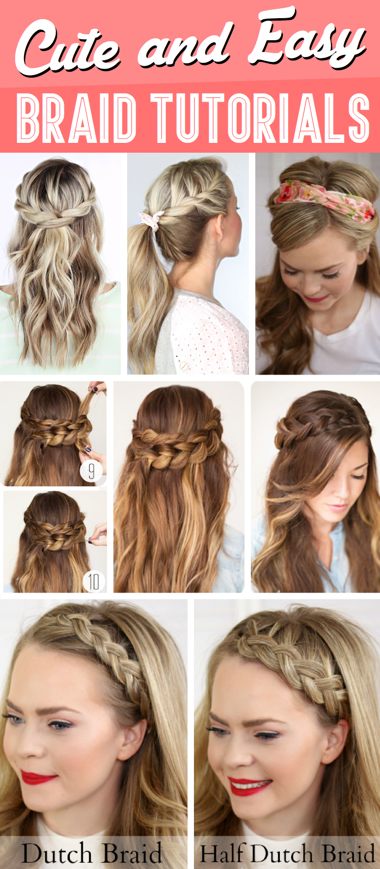 30  Cute and Easy Braid Tutorials That Are Perfect For Any Occasion     30  Cute and Easy Braid Tutorials That Are Perfect For Any Occasion