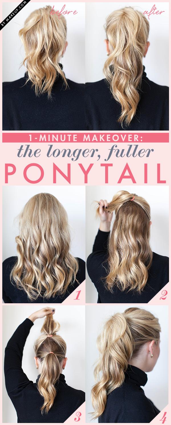1-Minute Makeover : The Longer, Fuller Ponytail