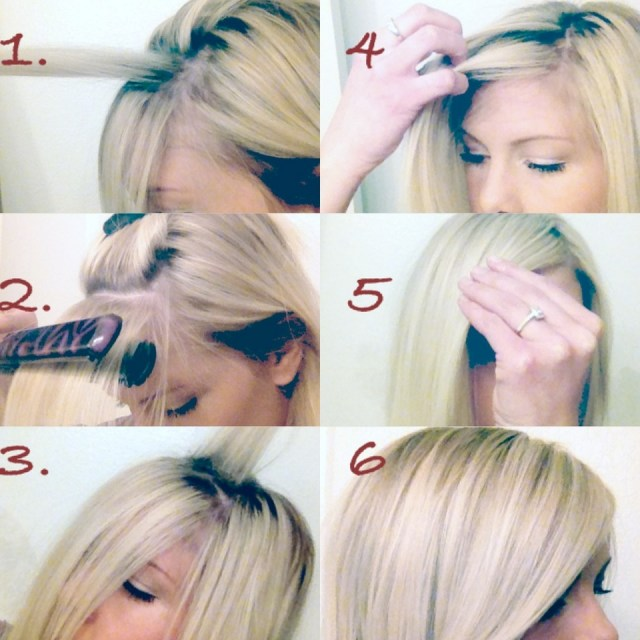 How To : The Perfect Side Swept Bang