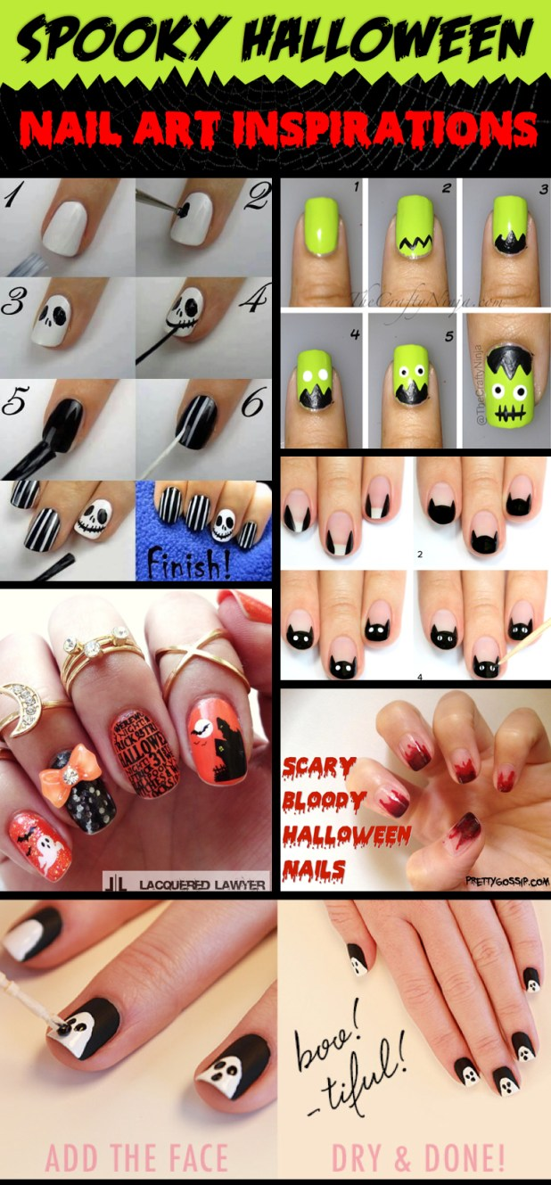 How To Make Halloween Nails With Paper Cartoonview