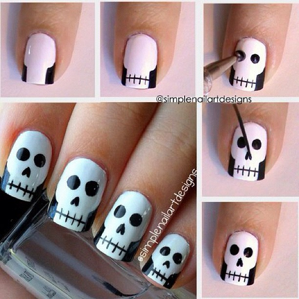 One Of The Coolest And Most Innovative Ones Are Skull Nail Art Designs That Look Y Eerie In Just About Five Steps You Can Craft Skulls