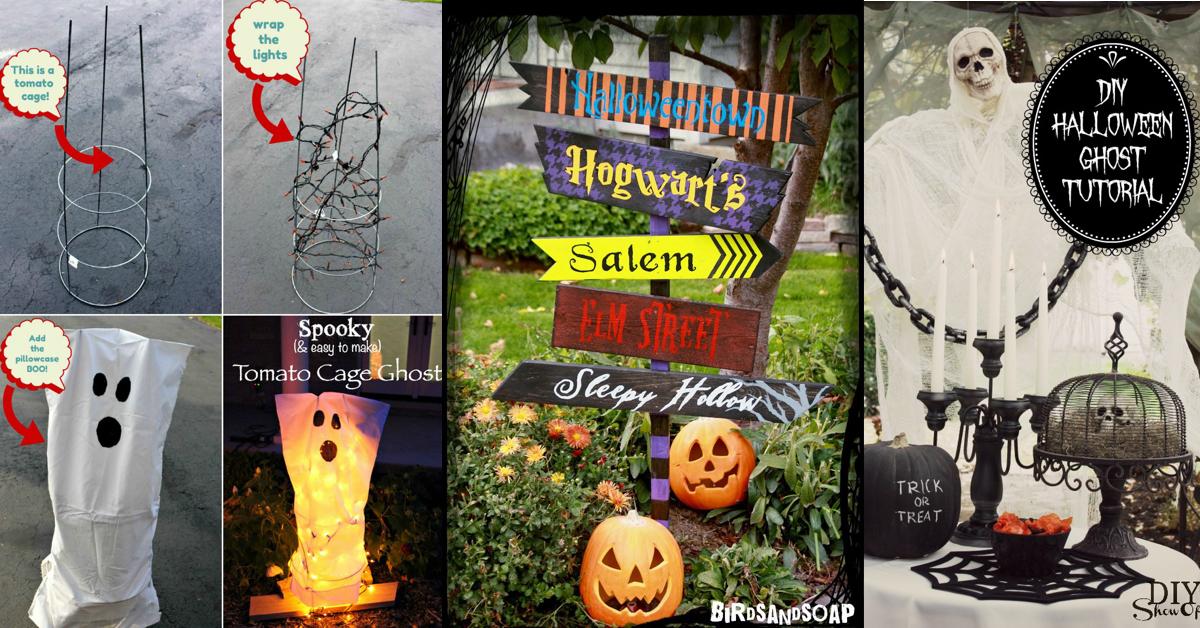 50 Easy Diy Outdoor Halloween Decoration Ideas For 2017