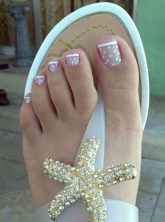 Easy And Cute Toe Nail Designs