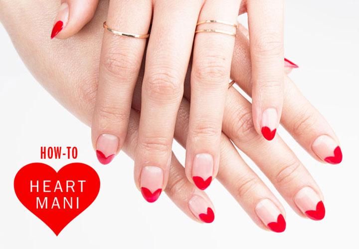Nail Art How To Heart Mani