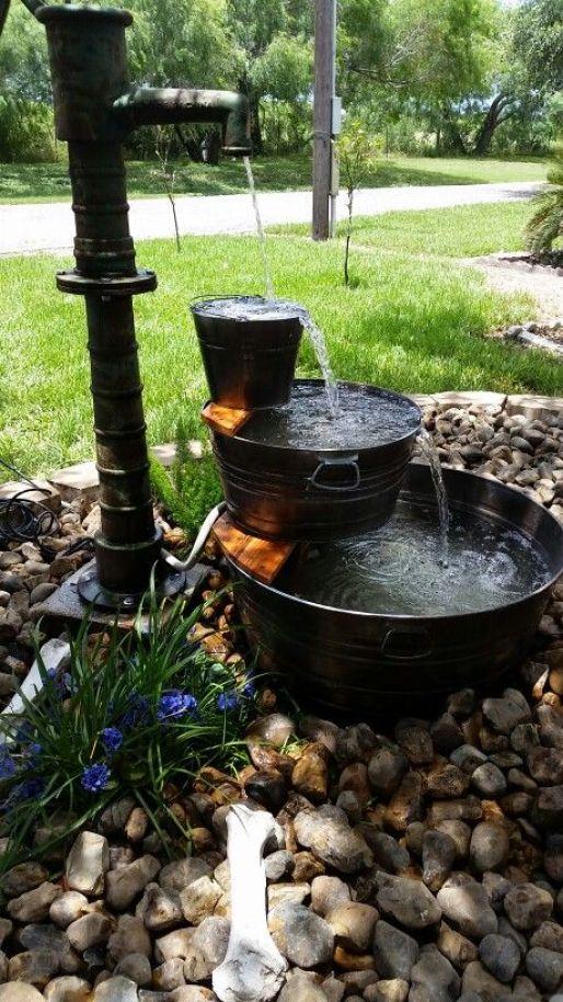 35 amazing outdoor garden water fountains ideas