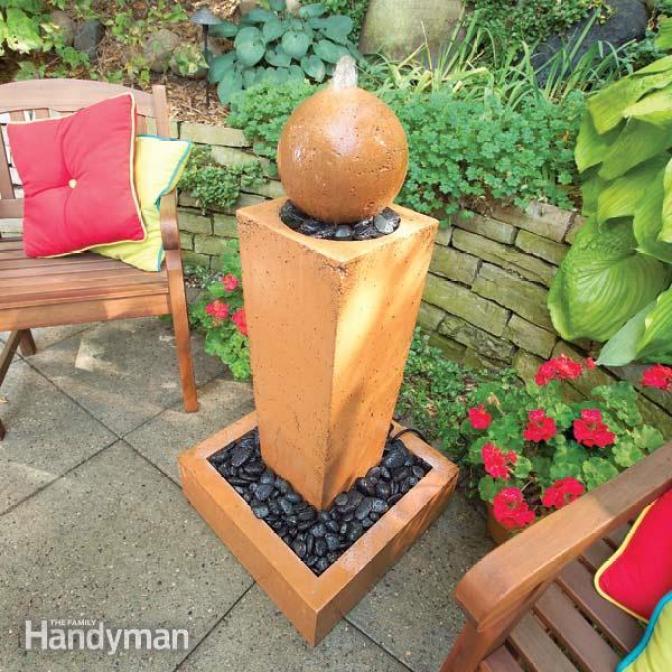 DIY backyard water fountain