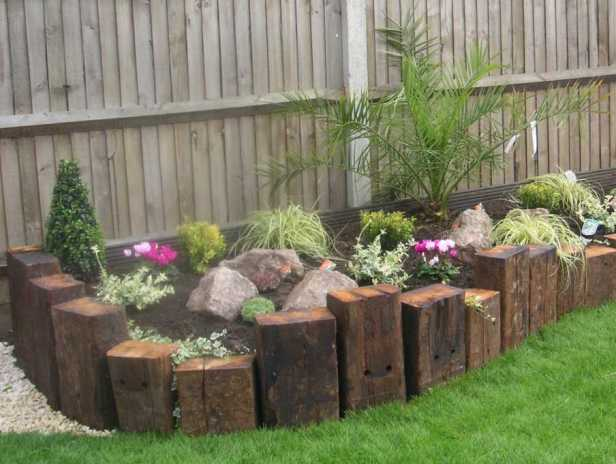 Railway Sleeper Garden Edge