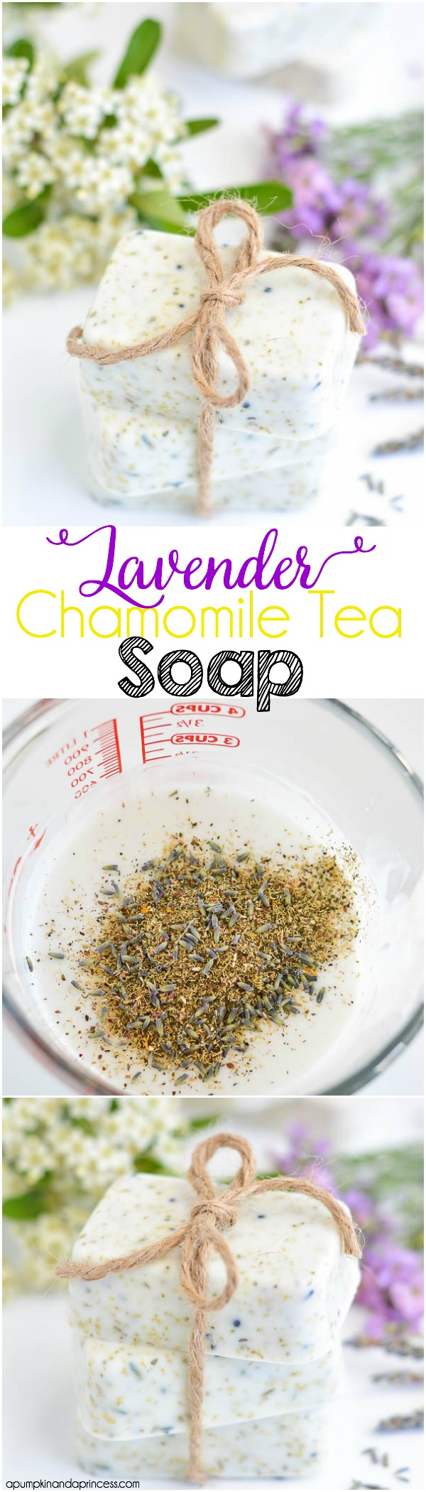 DIY Lavender Chamomile Tea Soap