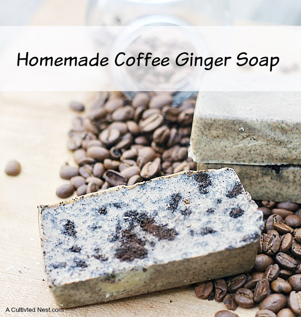 Easy To Make Coffee and Ginger Soap