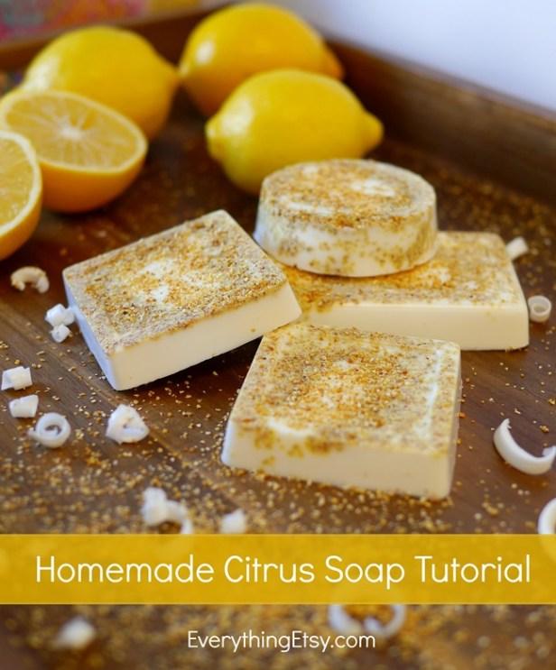 Homemade Citrus Soap Tutorial