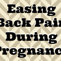 Easing Back Pain During Pregnancy
