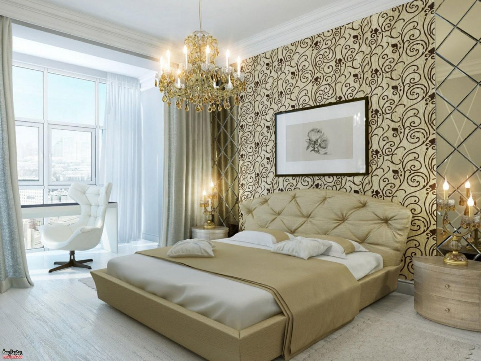 ورق جدران غرف نوم احدث ديكورات غرف النوم بورق الجدران بنات كيوت