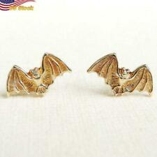 Cute Gold Plated bat shape Stud Earrings for Women 1 Pair Halloween gift