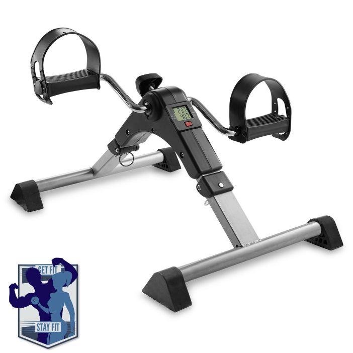 Foldable Under Desk Stationary Exercise Bike - Arm Leg Foot Pedal Exerciser