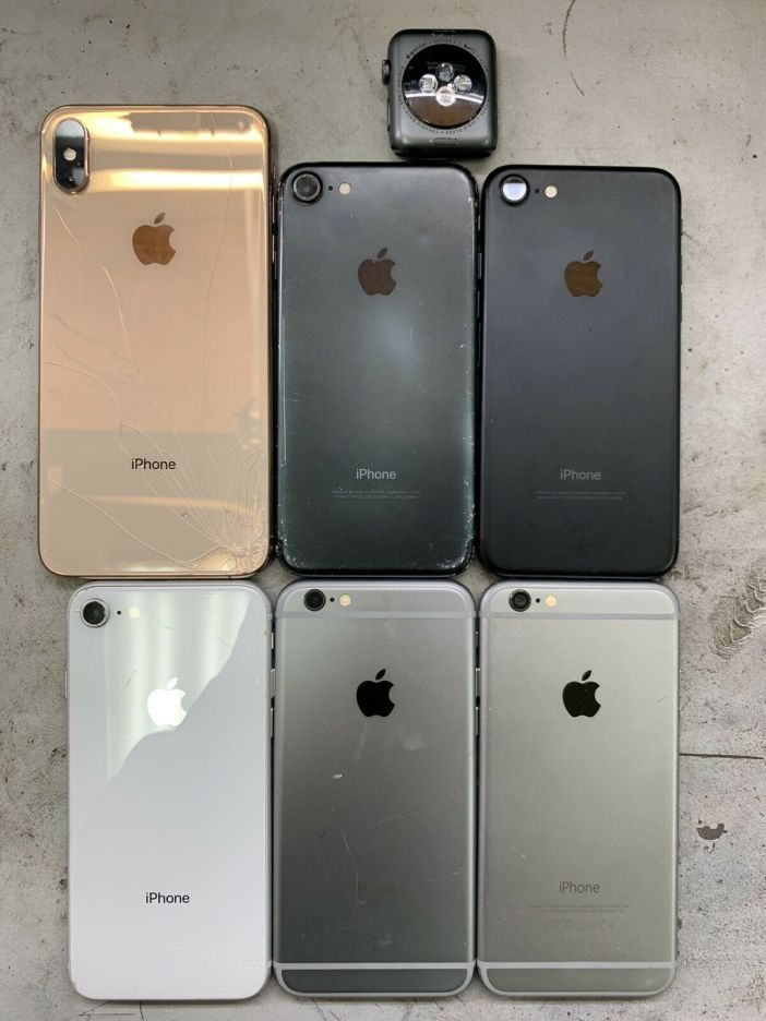 Apple Devices LOT OF 7 For Parts Sold As Is Please Read XSMax,8,7,6s,6,Series 2
