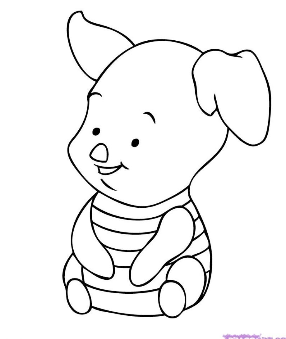 cute characters colouring pages