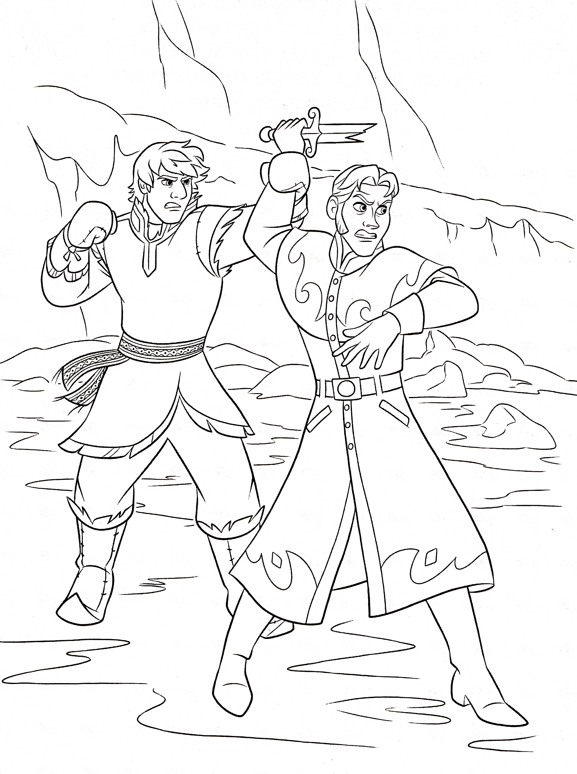 Disney's Frozen Colouring Pages | Cute Kawaii Resources