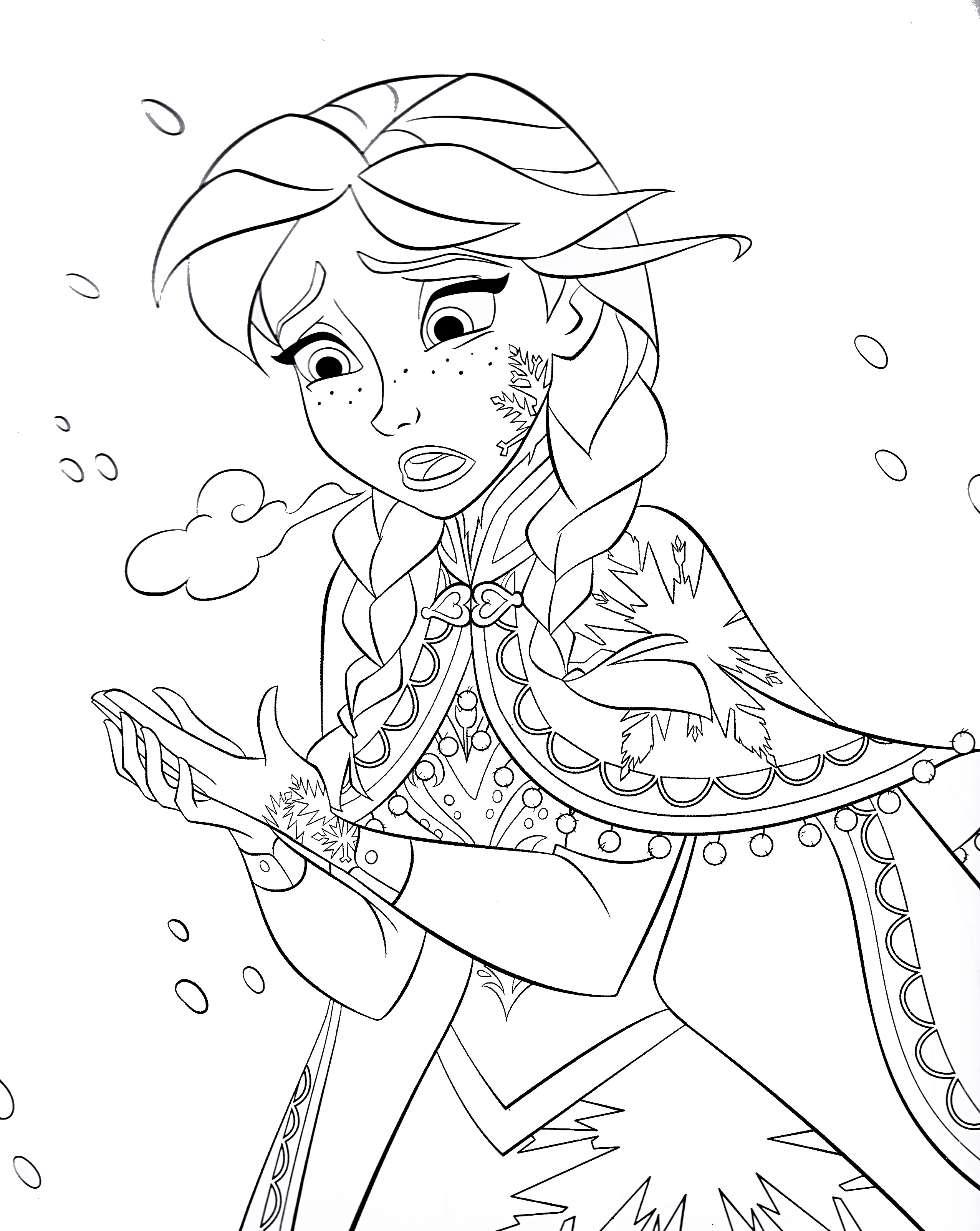Disney s Frozen Colouring Pages Cute Kawaii Resources