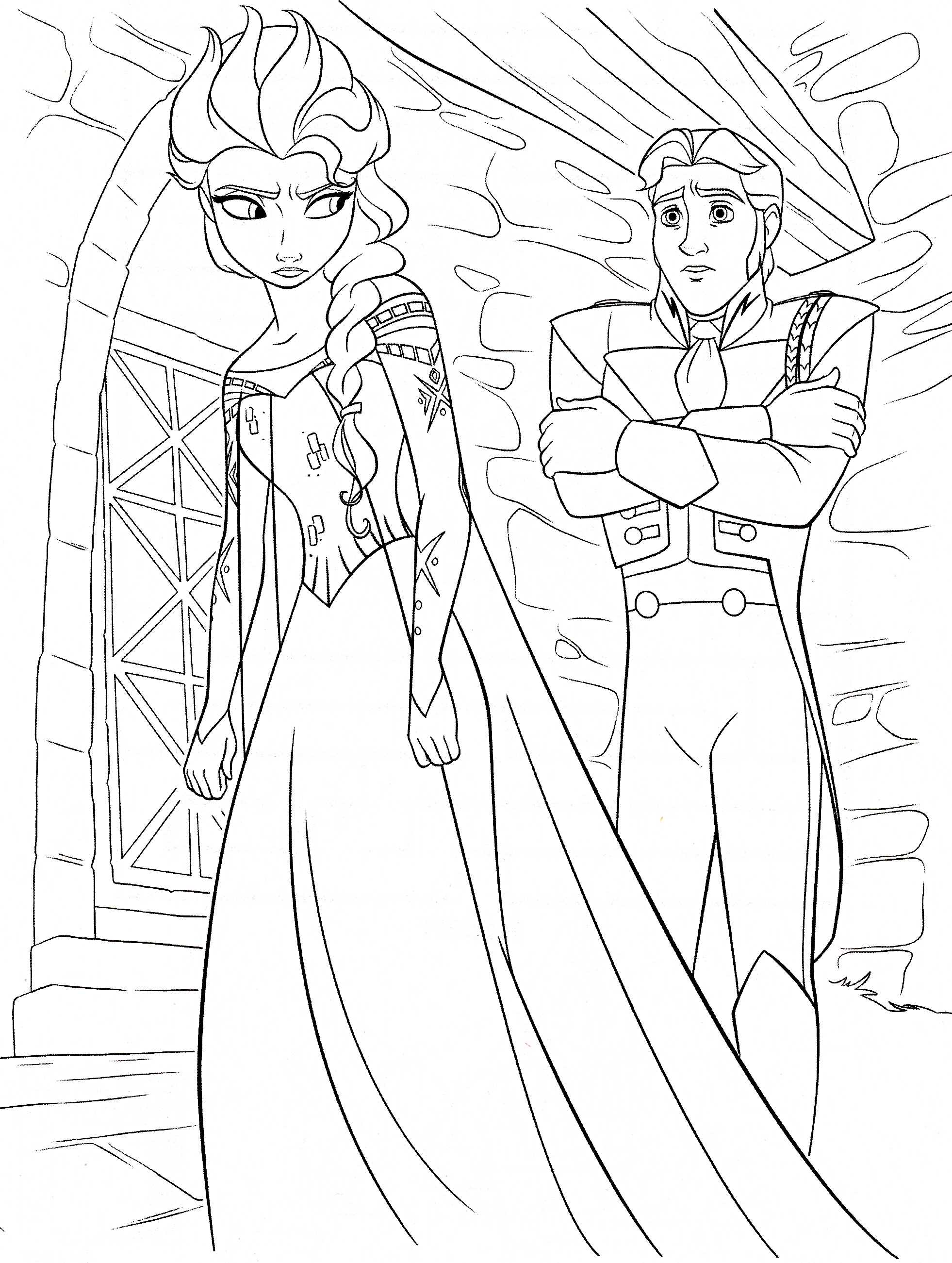 Disney's Frozen Colouring Pages   Cute Kawaii Resources