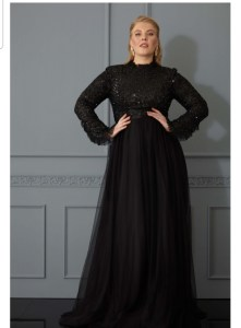 Black Long Gown With Long Sleeves
