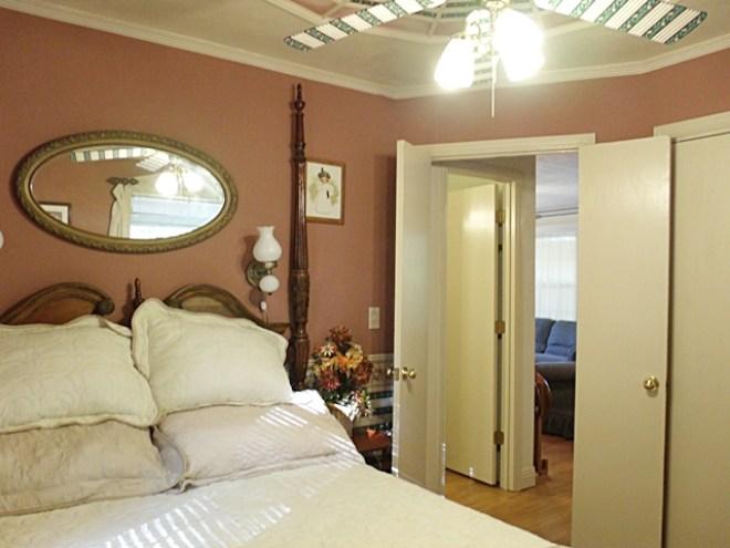 Coin Harvey Bedroom in the Beaver Lake Cabin