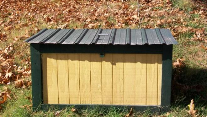 Yellow Trash Box