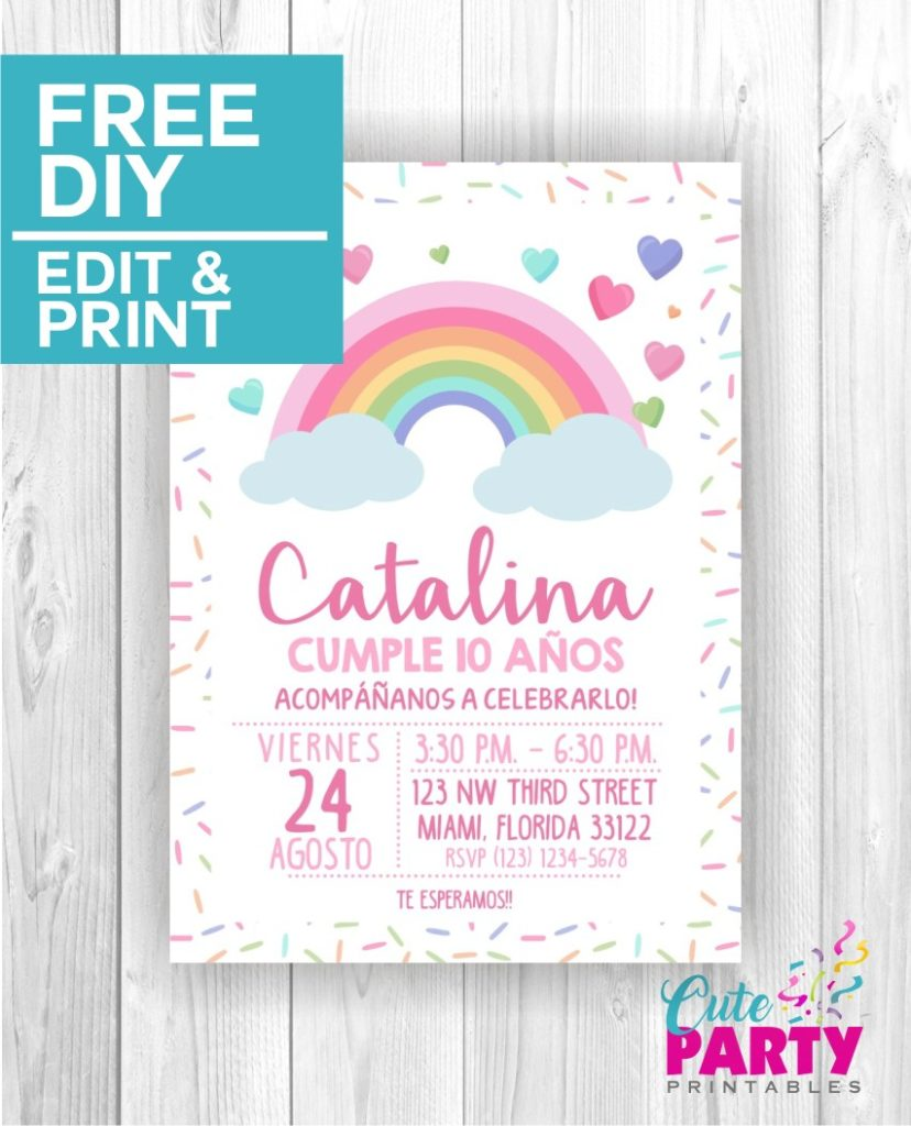 Rainbow Party Invitation CPP