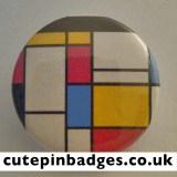 De Stijl Piet Mondrian Badge