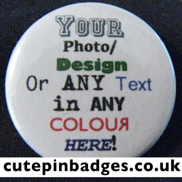 Personalised Pin Badges