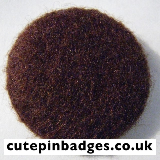 Brown Felt Badge