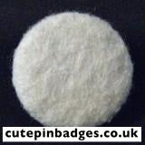 Cream Felt Badge