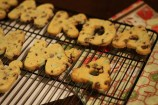 Mint chip alphabet cookies