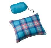 284594 Flannel Camp Pillows Marina Aqua Plaid