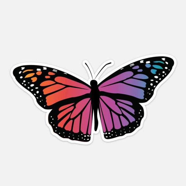 Rainbow Monarch Butterfly Sticker
