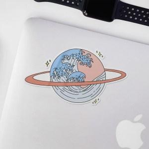 Saturn Waves Space Sticker