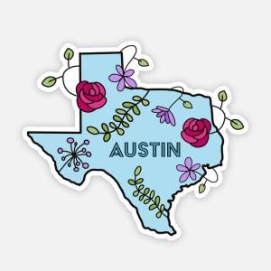 austin texas sticker cute texas sticker aesthetic