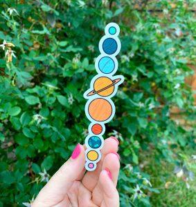 Cute Planets Sticker