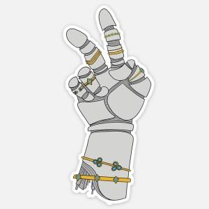 robot hand sticker 2