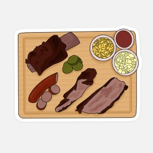 Texas Barbecue Sticker